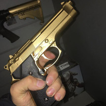 Dragon M9 Gas Blowback pistol in Gold