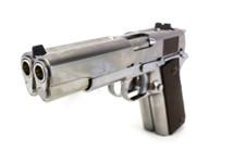 WE 1911 Dual Barrel GBB Pistol in Silver