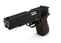 WE 1911 Dual Barrel GBB Pistol in Black