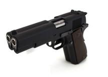 WE 1911 Dual Barrel GBB Pistol in Black