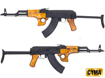 Full Metal CYMA CM048SU AK47 Two Tone Rifle with Foldable Stock
