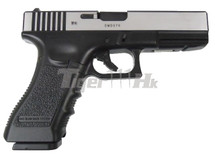 Army Armament R17-Y Gas Blowback Pistol in Black/Silver