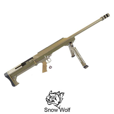 Snow Wolf Barrett M99 Sniper Rifle with bipod in Tan