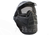 Pro BB gun Protection mask in black with mesh visor