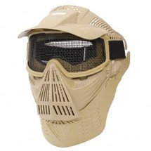Pro BB gun Protection mask in TAN with mesh visor