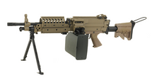 A&K MK46 AEG with Retractable Stock and Bipod in Tan