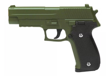 Galaxy G26D P226 Full Scale Metal pistol With Rail in Green