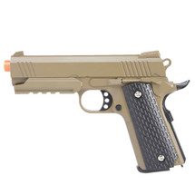 Galaxy G25 K Warrior Metal pistol With Rail in Tan