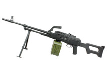 A&k Airsoft Rifle with Drum Magazine in Black