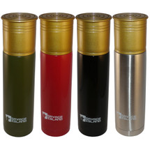 Steel Thermal Shotgun Cartridge Shell 750ml Flask in green