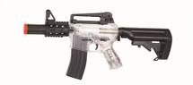 Blackviper B3812 Electric Rifle With Adjustable Navy Stock in clear