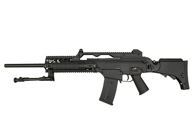 JG Works G36K Airsoft Rifle with Adjustable Stock in Black