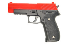 Galaxy G26 P226 Full Scale Metal pistol With Rail red