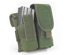 MOLLE Double Retention Ammo Pouch Olive Green