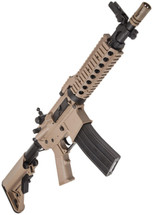 Nuprol Delta Pioneer Defender M4 AEG with crane stock in tan