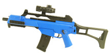 BlackViper G36 Electric Rifle with adjustable rear sight in blue