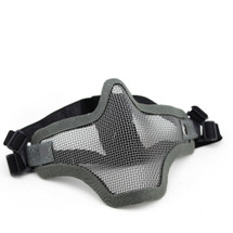 Wo Sport Metal Mesh Lower Half Face Mask in Grey