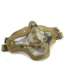 Wo Sport Metal Mesh Lower Half Face Mask in Italy Camo