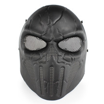 Wo Sport Skull Chastener Airsoft Mask in Black