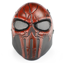Wo Sport Skull Chastener Airsoft Mask in Red
