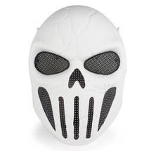 Wo Sport Skull Chastener Airsoft Mask in White