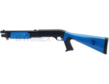 Double Eagle M56A Tri Shot Pump Action Shotgun in Blue/Black