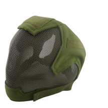 Wo Sport V6 Fencing Style Hood Full Head Mask in Olive Drab