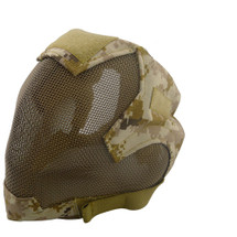 Wo Sport V6 Fencing Style Hood Full Head Mask in Digital Desert