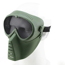 Wo Sport Aviator Airsoft Mask with Metal Mesh Eyes in Olive Drab