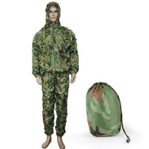WoSport Ghillie Leaflike Camouflage in Woodland DPM