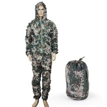 WoSport Ghillie Leaflike Camouflage in Digital Woodland