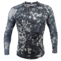 Wo Sport T-Shirt Long sleeved in Kryptek Typhon Camo