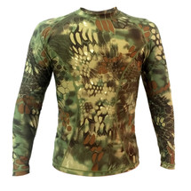 Wo Sport T-Shirt Long sleeved in Mandrake Camo