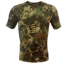 Wo Sport T-Shirt Short Sleeved in Mandrake Camo
