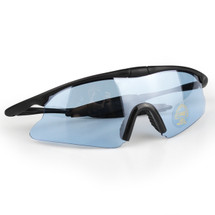 WoSport 7.0 Airsoft Glasses Black Frame With Blue Lens