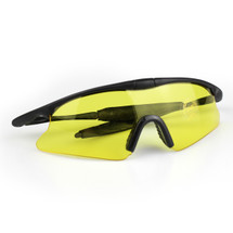 WoSport 7.0 Airsoft Glasses Black Frame With Yellow Lens