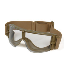 Wo Sport ATF Airsoft Goggles in Tan With Clear Lens