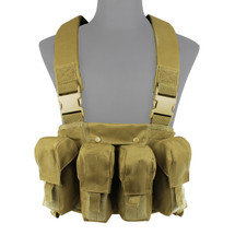 WoSport 4 Pouch Tactical Vest in Black