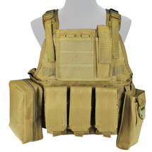 WoSport Commando Tactical Vest in Desert Tan
