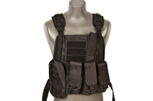 WoSport Commando Tactical Vest in Black