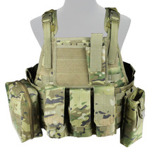 WoSport Commando Tactical Vest in Multi Cam