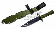 T&D Bayonet Plastic Training Knife in Olive Drab