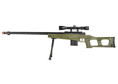 WELL MB4409 Airsoft Spring Sniper rifle with scope & bipod in Olive Drab