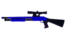Cyma P799A Pump Action Shotgun with scope in blue/black