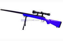 Well MB03 Spring Sniper Rifle with scope & bipod in Blue