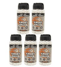 5 pots of angry ball bb pellets 0.20g