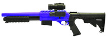 Double Eagle M47D2 UTG Tactical Shotgun in Blue/black with tactical flashlight