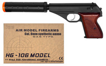 HFC HG106 Gas Powered pistol with Silencer in blue