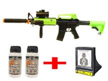 DE M83-A2 Bundle deal includes 1 x DOUBLE EAGEL M83, 2 x Angry ball 0.20G bb pellets & 1 x Net Target