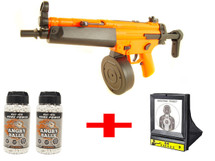 Well D95 Bundle deal includes Electric drum mag, Angry ball 0.20G bb pellets & net target